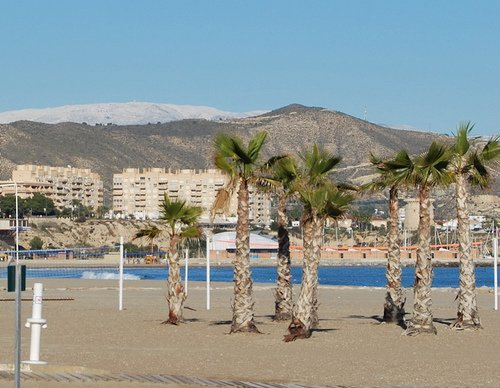 benidorm levante beach in winter image